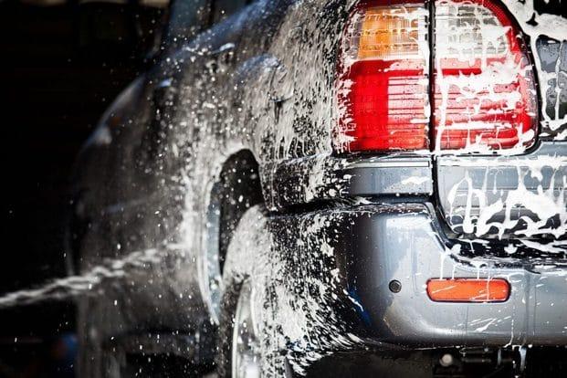 Car Being Washed at Arcadian Car Wash